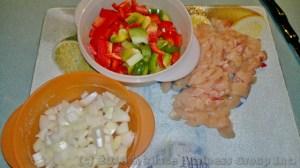 Ingredients prepared for cooking