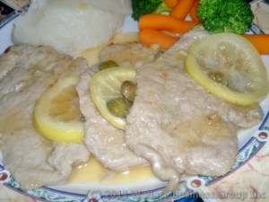 Veal in lemon Sauce with Capers