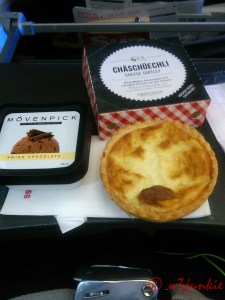 Airline Food - Cheese Tartlet - Swiss Chocolate Ice Cream