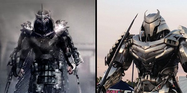 The Shredder (left) and  Silver Samurai look awfully similar