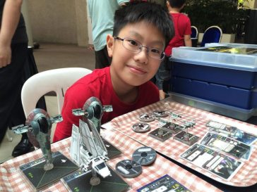 Ranked 4th Place in the X-Wing tournament, Ayden Lee