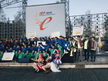 Team RP at the Prize Ceremony of IEF 2016