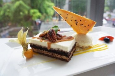 Sea Salt Caramel Pecan Mousse Cake