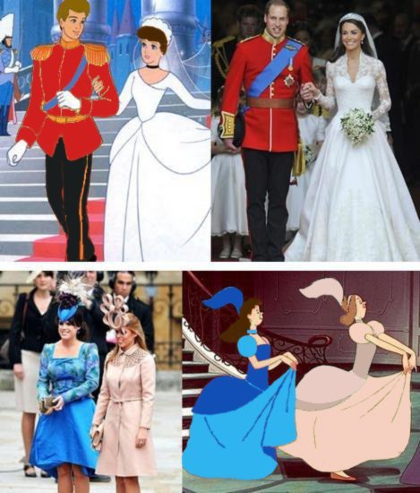 similarity between Royal Wedding and Fairy Tale Cindrella