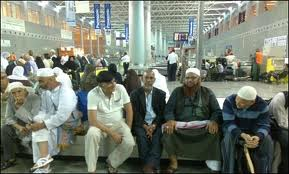 pakistani hajji at jeddah air port