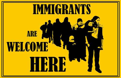Protest Poster - Immigrants Are Welcome Here - Yakira Teitel