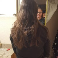 "Long Virginia brunette hair 18"" never heated mail hair"