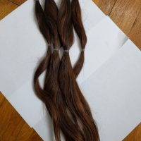 Brown virgin Caucasian hair