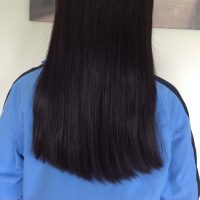 "8"" black virgin uncut straight (healthy athletic)"