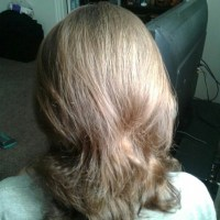 Beautiful virgin light bronw colored straight male hair 10.5 inches in length and 4.5 inches diamete