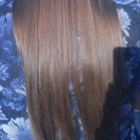 Light brown virgin hair, non-smoker, straight