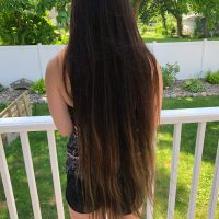 23 inches Straight Brown Hair