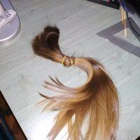 15+ inch virgin brown straight hair