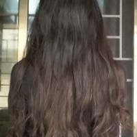 11 INCHES VIRGIN WAVY BLACK HAIR WITH NATURAL GOLDEN HIGHLIGHTS
