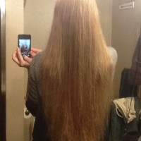 12-14 inches of Dark Honey Blonde Hair