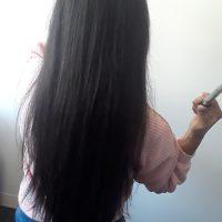 10 inches virgin asian black hair