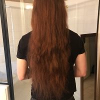 24 inches of red hair