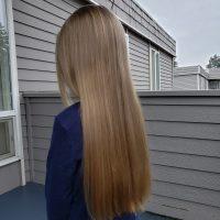 "12"" Dark Blonde Virgin hair, from a 6-year old"