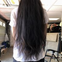 "30"" Asian Filipino Virgin Thick Black Hair 6 Years Uncut"