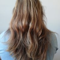 Virgin, natural dark blonde human hair 40cm=16in
