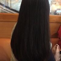 """11"""" Silky Healthy Black Asian Hair"""