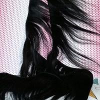 "113"" Pre-Bonded Ebony Remy Human Hair"