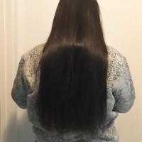 Virgin straight long soft black hair