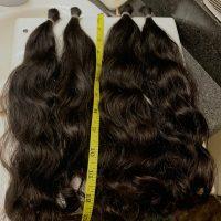 12''-14.75'', Virgin Black Hair, 3.5 inches thick