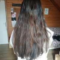 Chestnut virgin hair 14 inches negociable