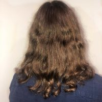 "11"" wavy brown virgin male hair"