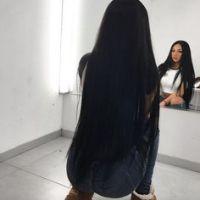 24 inches long black virgin hair