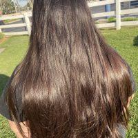 12 inches Dark Brown Virgin Hair