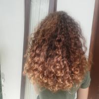 Beautiful, Thick, 12 Inches Long Curly Virgin Brown hair for Sale