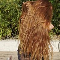 Cheveux vierges blonds vénitiens longueur 15 à 17 pouces épaisseur 4 pouces