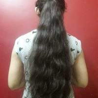 Sale!! Buy 18-19 inches long,thick, darkest brown, virgin, soft hair for only 250 usd