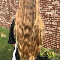 23+ inches warm blonde virgin hair