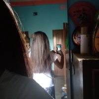 Brown straight hair