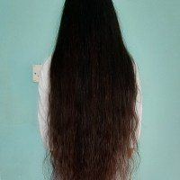 Long 30 inch long black hair...