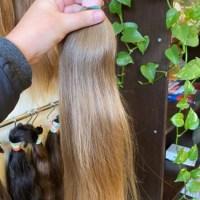 "20.8"" Beautiful virgin Slavic hair. Like a baby hair. Beautiful color. 3.24 oz"