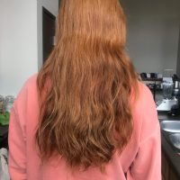 """16""""-20"""" Virgin Red/Ginger Wavy 4"""" Thick Male Caucasian Hair"""