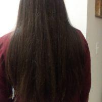 "13"" virgin chestnut brown hair"