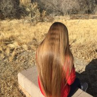 18 inch golden/honey blonde hair