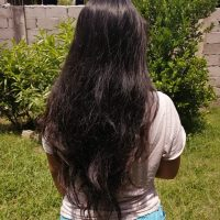 "19-22"" LOW PRICE,RICH,THICK,NATURALLY SLIGHTLY WAVY,VIRGIN FILIPINO, CUT HAIR"