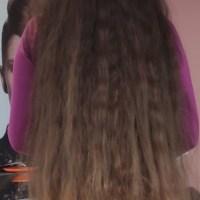 Unique slavic hair with natural ombré about 22'/57-58cm long, 185g