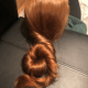 15 inches of silky shiny red hair