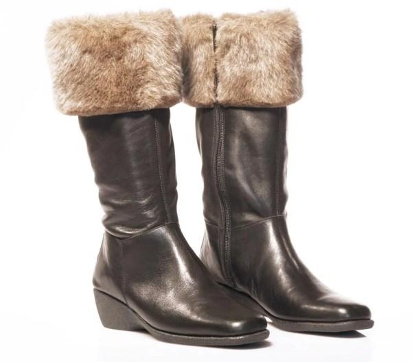Frau stivali pelle con pelo boots shoes