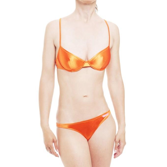 DOLCE&GABBANA D&G bikini arancione a balconcino con ferretto II donna