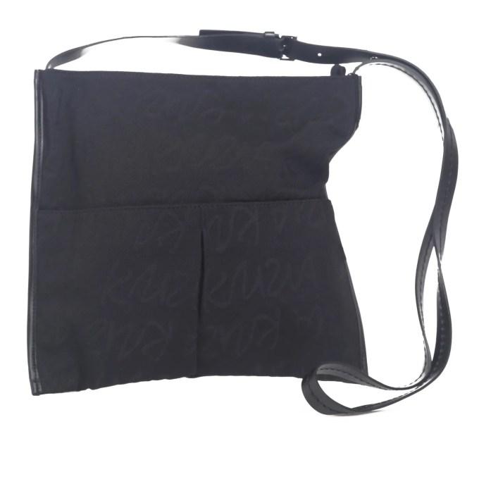 KRIZIA - black canvas shoulder bag