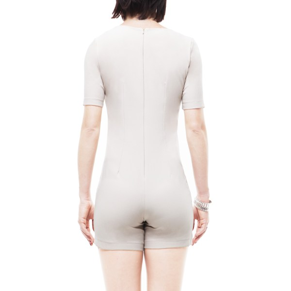 Antonello Serio tuta onepiece, abito corto, shorts, panna