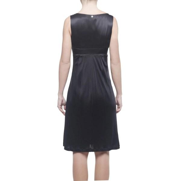 Pennyblack vestito donna corto nero senza maniche con fiore, IT 38